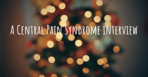 A Central Pain Syndrome interview