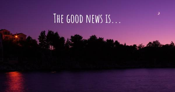 THE GOOD NEWS IS...
