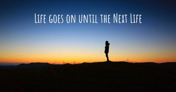LIFE GOES ON UNTIL THE NEXT LIFE