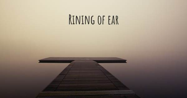 RINING OF EAR