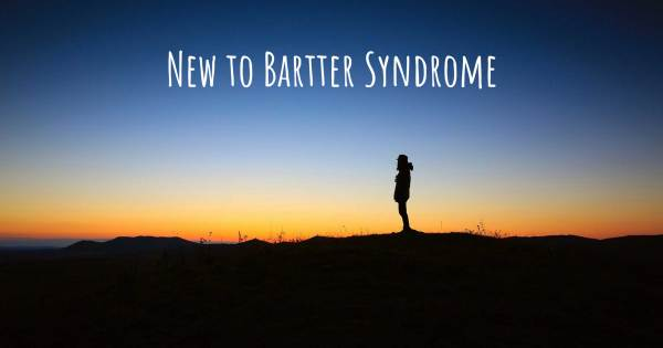 NEW TO BARTTER SYNDROME